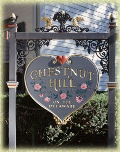 The Inn's Heart Shaped Sign.